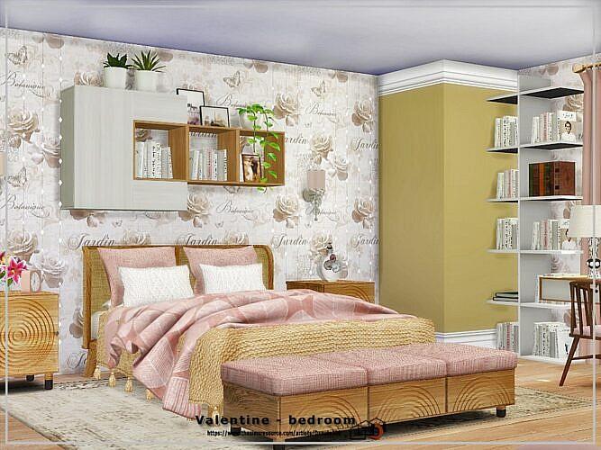Valentine Sims 4 Bedroom