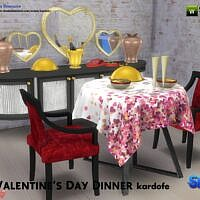 Valentines Day Sims 4 Dinner Set