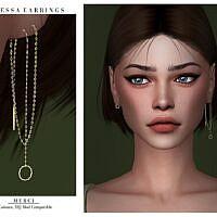 Vanessa Sims 4 Earrings