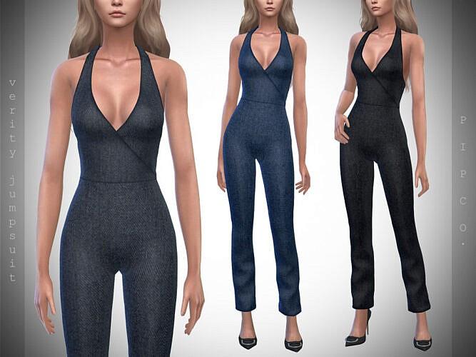 Verity Denim Sims 4 Jumpsuit