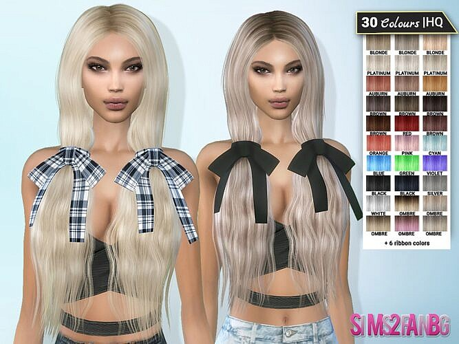 Veronique Sims 4 Hairstyle 10