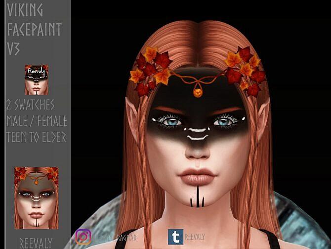 Sims 4 Viking Facepaint V3 by Reevaly at TSR