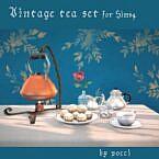 Vintage Tea Set Sims 4
