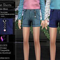 Violet Sims 4 Denim Shorts For Girls