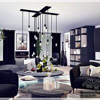 Violetta Sims 4 Living Room