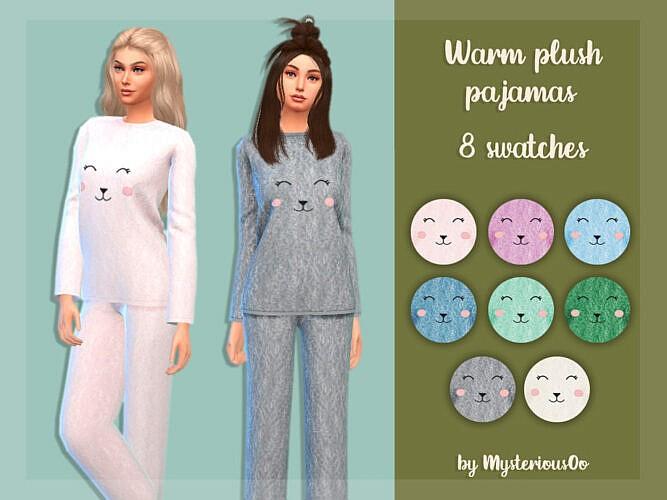Warm Plush Sims 4 Pajamas