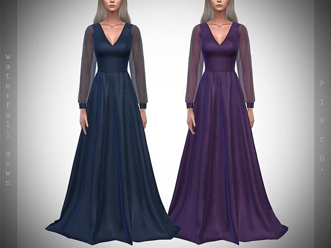 Waterfall Sims 4 Gown