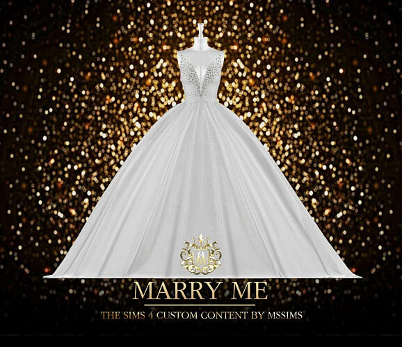 Wedding Dress Sims 4 Marry Me Gown