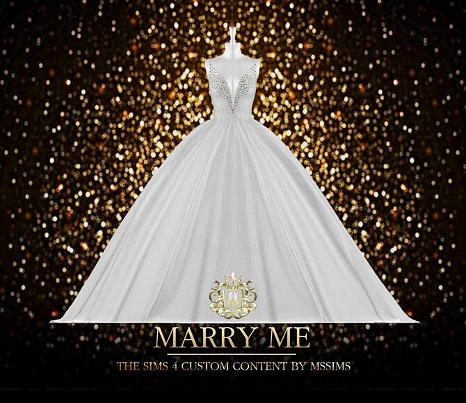 Sims 4 MARRY ME GOWN at MSSIMS