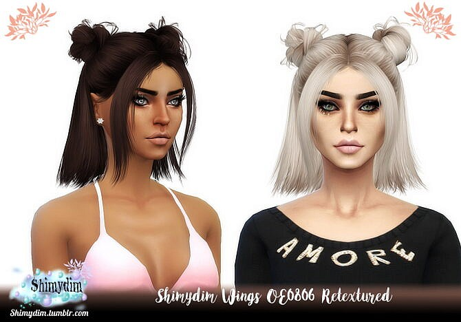 Wings To0206 Sims 4 Hair Retexture