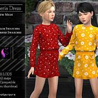 Wisteria Sims 4 Dress By Katpurpura