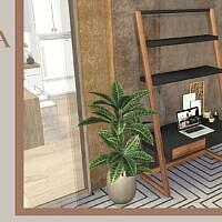Wooden Art Sims 4 Desk