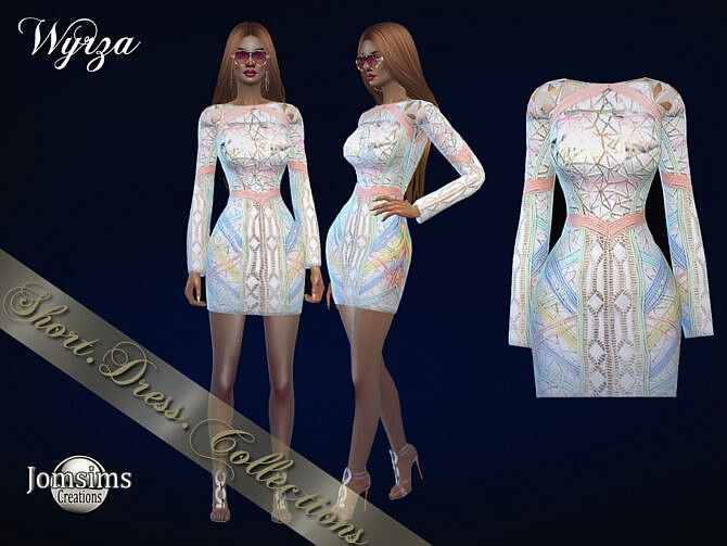 Sims 4 Wyrza dress by jomsims at TSR