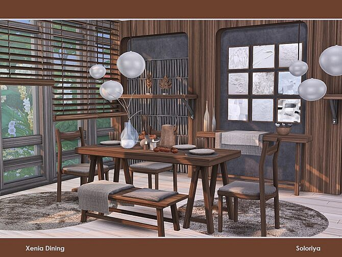 Sims 4 Xenia Dining by soloriya at TSR