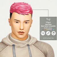 Yuji Sims 4 Hair Male