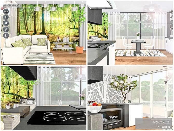 Sims 4 Yuriko Kitchen by Moniamay72 at TSR