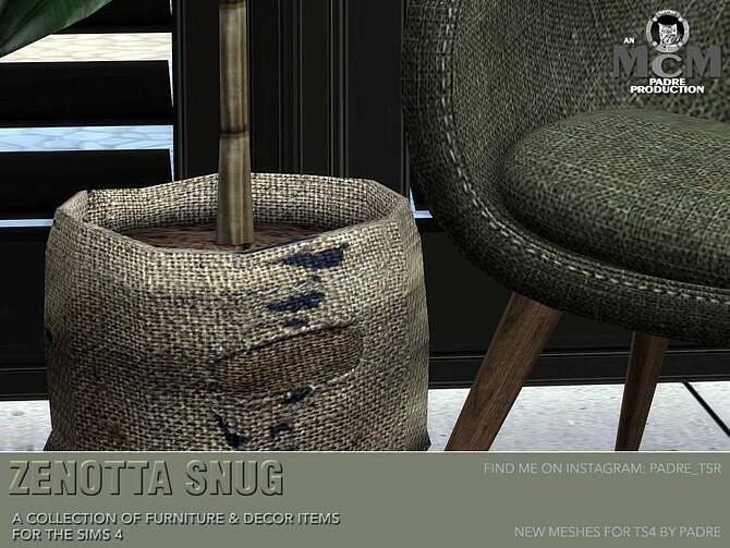 Sims 4 Zenotta Snug Furniture & Decor Set by Padre at TSR