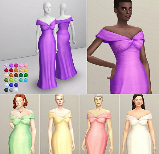 Bloome Sims 4 Gown 7