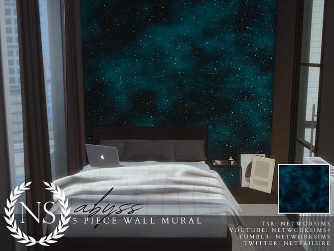 Sims 4 Abyss Wall Mural by Networksims at TSR