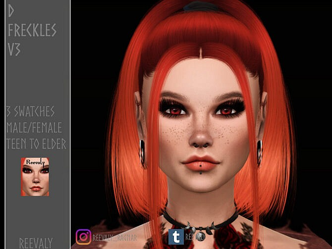 Sims 4 D Freckles V3 by Reevaly at TSR