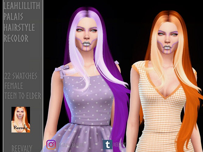 Leahlillith's Palais Hairstyle Recolor By Reevaly