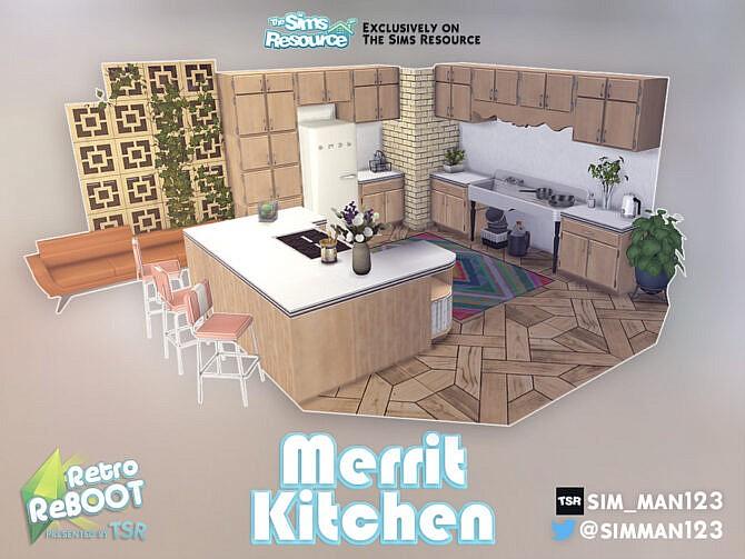 Sims 4 Retro Merrit Kitchen by sim man123 at TSR