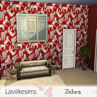 Zebra Walls By Lavilikesims