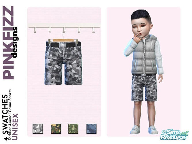 Toddler Animal Camo Shorts By Pinkfizzzzz