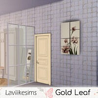 Gold Leaf Wall Tiles By Lavilikesims