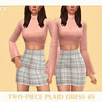 Two-piece Plaid Dress 05 By Black Lily