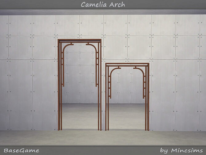 Sims 4 Camelia Arch by Mincsims at TSR