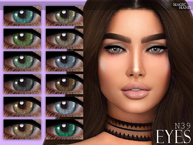 Sims 4 Eyes N39 by MagicHand at TSR