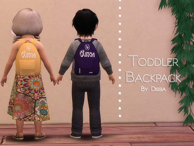 Sims 4 Backpack Toddler by Dissia at TSR