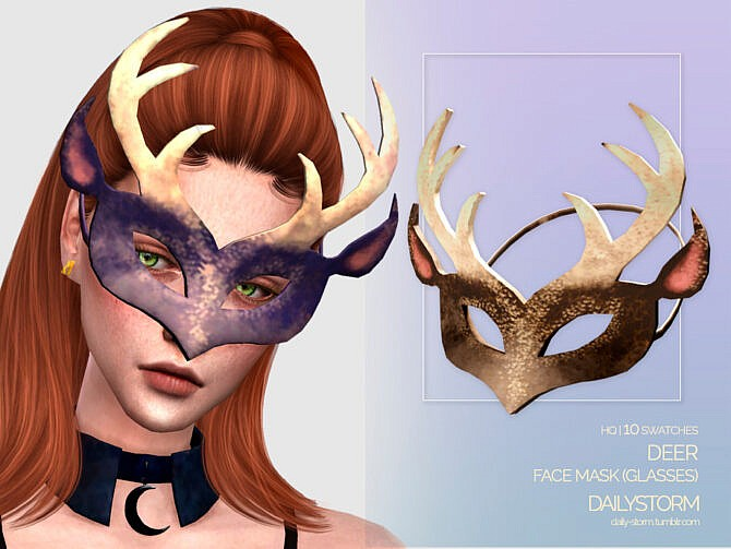 Sims 4 Deer Mask by DailyStorm at TSR