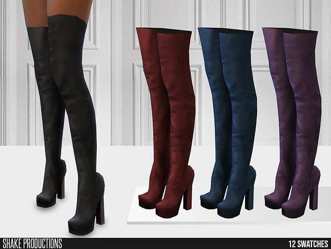 Sims 4 655 High Heel Boots by ShakeProductions at TSR