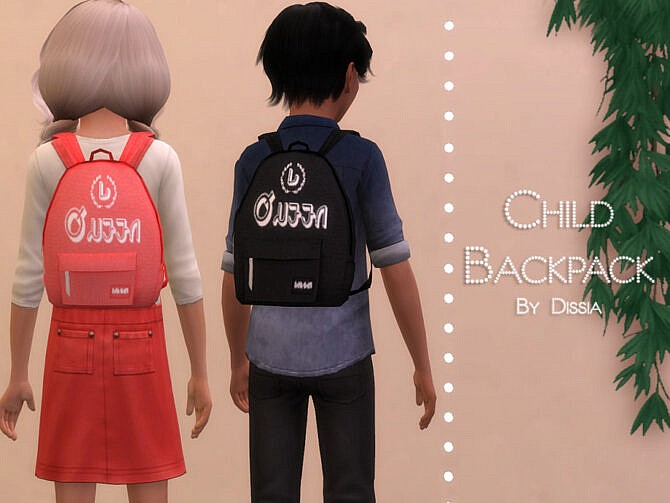 Sims 4 Backpack Child by Dissia at TSR
