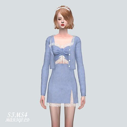 Lace 3-pieces Outfit 9a