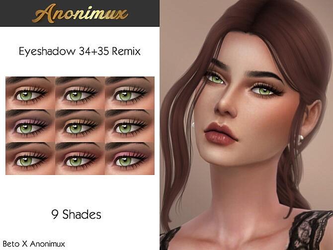 Sims 4 Beto X Anonimux Eyeshadow 34 + 35 Remix at TSR