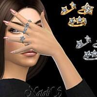 Diamond Star Ring Set By Natalis
