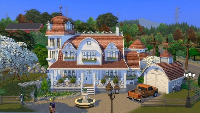 Sims 4 Family Farmhouse Bridleton Bay40x40 by bradybrad7 at Mod The Sims 4