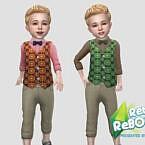 Toddler Retro 70's Waistcoat Set By Infiniteplumbobs