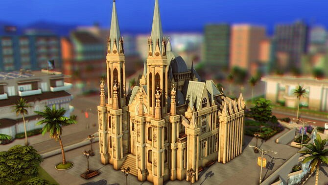 Sims 4 Cathedral da Se by plumbobkingdom at Mod The Sims 4