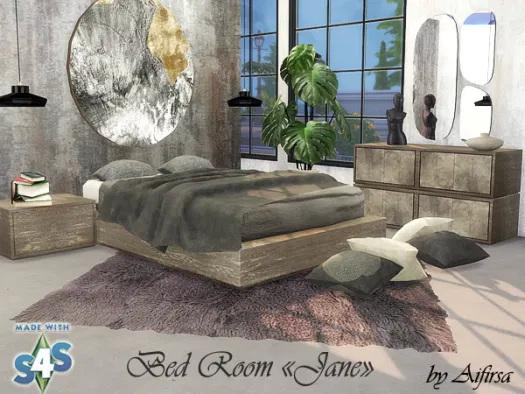 Sims 4 Jane bedroom at Aifirsa