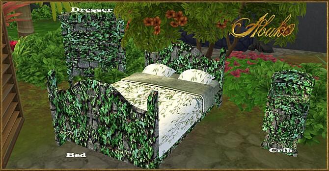 Sims 4 Daji 4 new green jungle room sets at Abuk0 Sims4