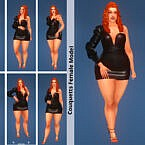 Model Female Cas & Game Mode Pose Pack Set 2