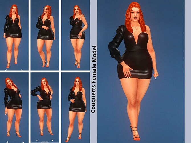 Sims 4 Model Female Cas & Game Mode Pose Pack SET 2 at TSR