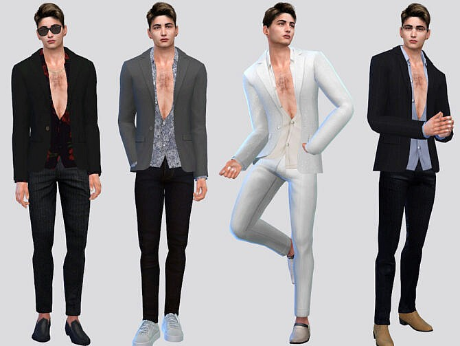Sims 4 Calderone Suit Jacket by McLayneSims at TSR