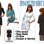 Ep04 Belted Shirt Dress