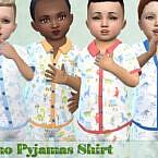 Dino Pajamas Shirt By Pelineldis