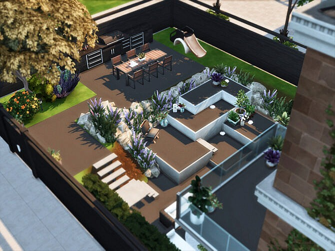 Sims 4 Hawley Townhouse by xogerardine at TSR